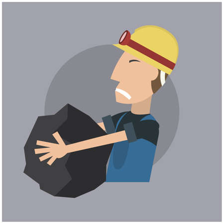 coal: worker with coal lump