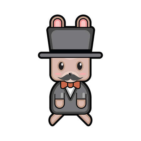 top hat: easter bunny with top hat