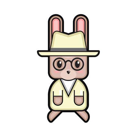 fedora: easter bunny with fedora