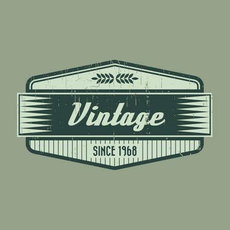 vintage product label design Vektorové ilustrace