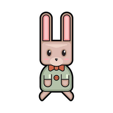 bowtie: easter bunny with bowtie Illustration