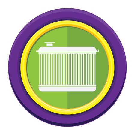 radiator: car radiator Illustration