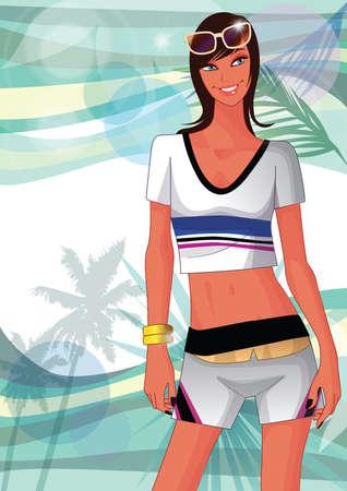 posing: woman posing at the beach