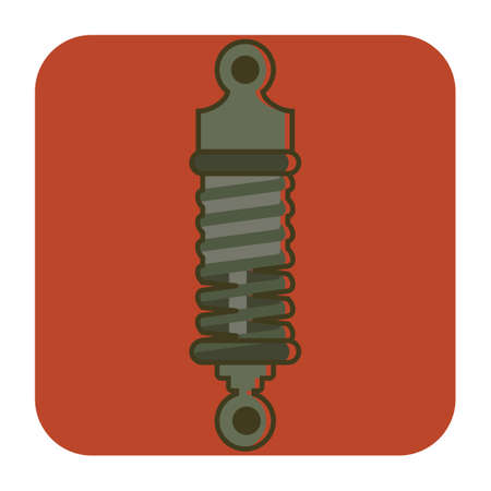 metal spring: shock absorber