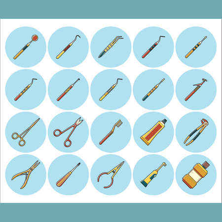 extractor: set of dental icons Illustration