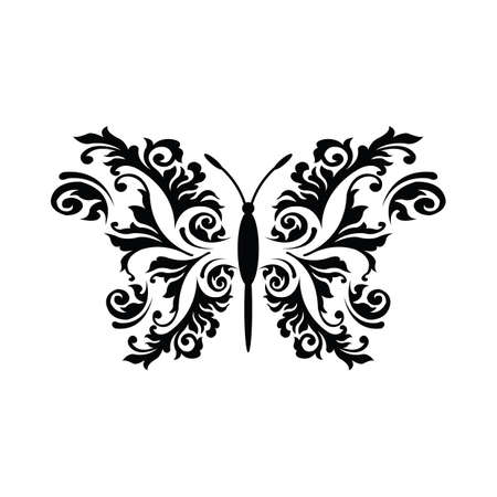 Conception de tatouage de papillon Banque d'images - 52717145