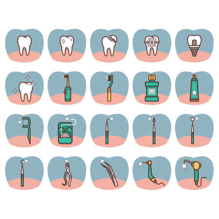 cavity braces: collection of dental tools