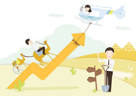 improving: business improving concept Illustration