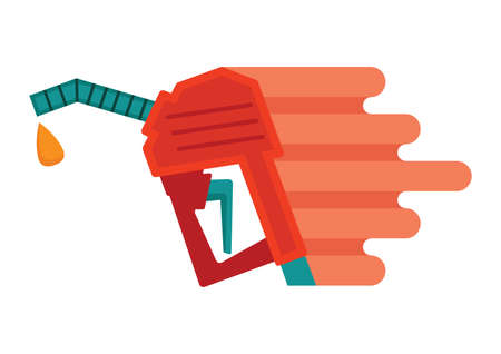 nozzle: gasoline fuel nozzle with a drop Illustration