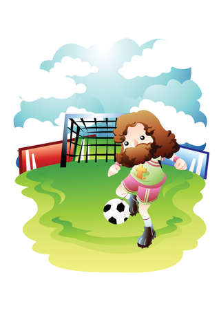 playing soccer: jesus playing soccer