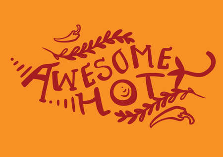 spicy chilli: awesome hot text design