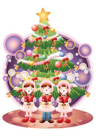 carols: children singing christmas carols