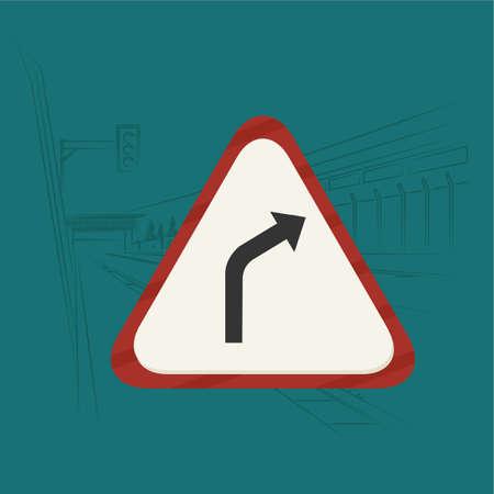 take: take right hazard Illustration