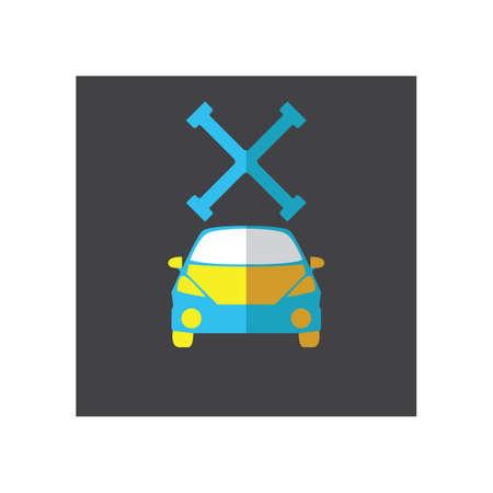lug: lug wrench and car