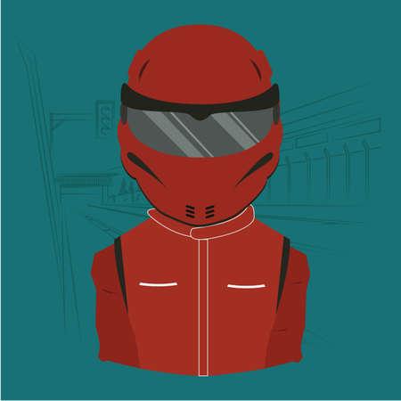 rider: bike rider Illustration