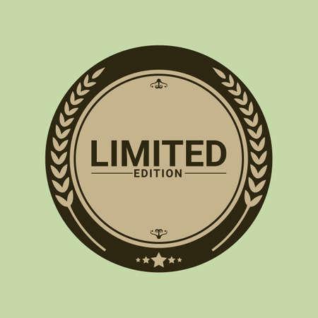limited: limited edition label Illustration