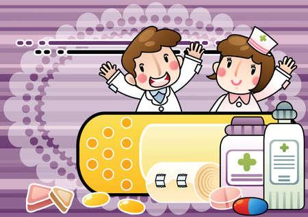 personal medico: personal m�dico con medicamentos