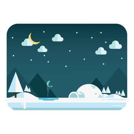 night: night landscape