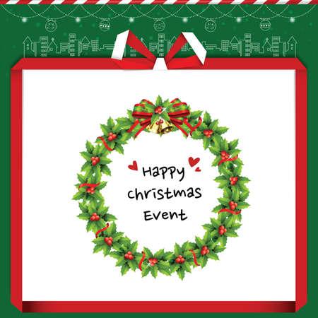 happy christmas: happy christmas event Illustration
