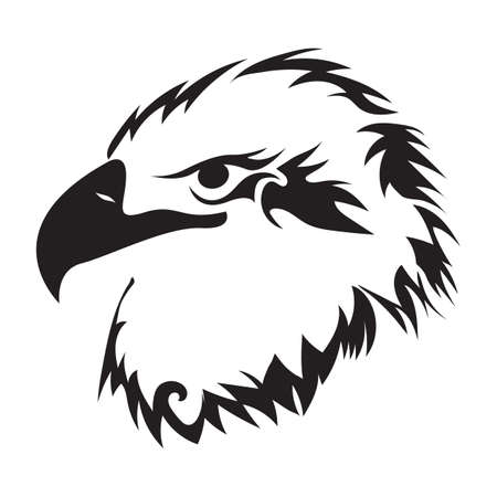 bird of prey: eagle tattoo design Illustration