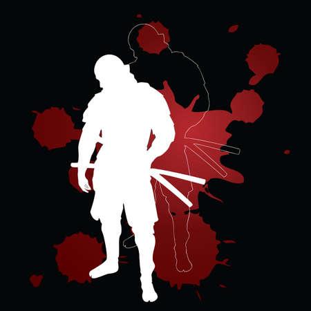 shadow people: ninja warrior in action