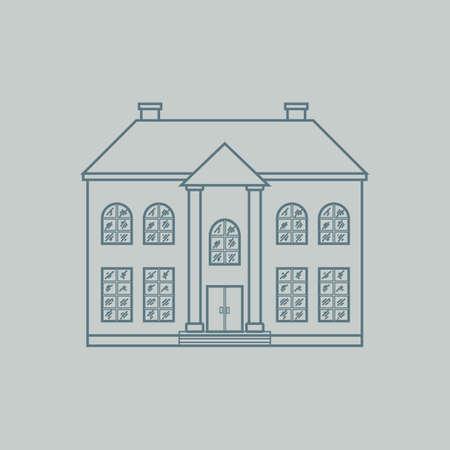 storey: double storey house Illustration