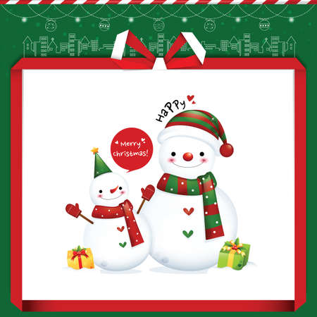 chapel: snowman christmas greeting