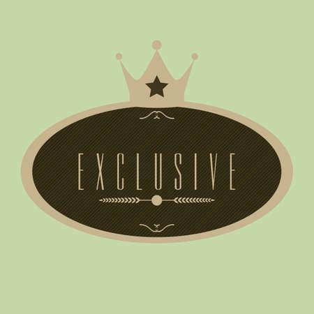 exclusive: exclusive label Illustration