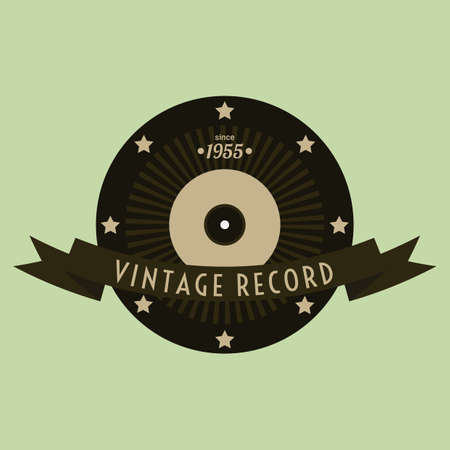 record label: vintage record label