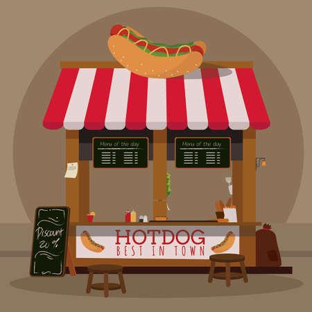 stall: hotdog stall
