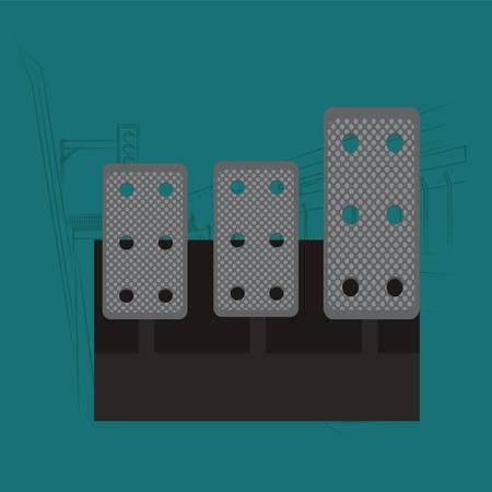 pedals: car pedals