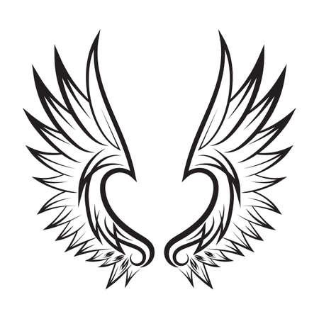 Vleugels tattoo Stockfoto - 52743612