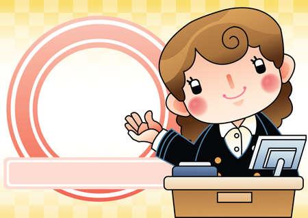 the clerk: empleado de oficina