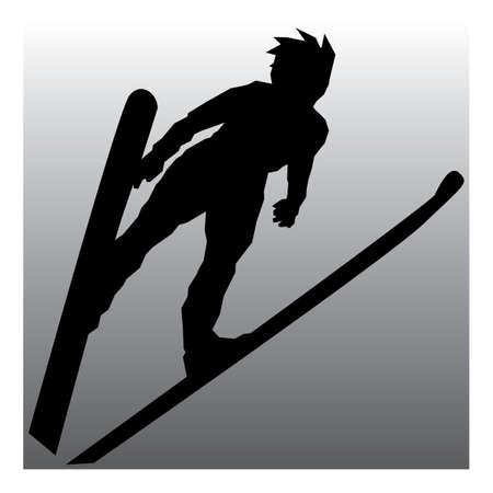 narciarz: narciarz w akcji