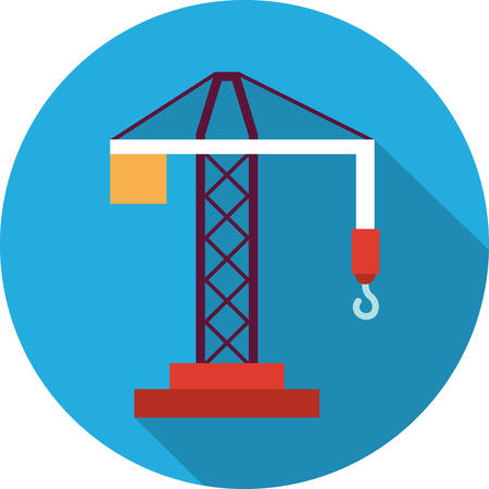 hoisting: hoisting crane Illustration
