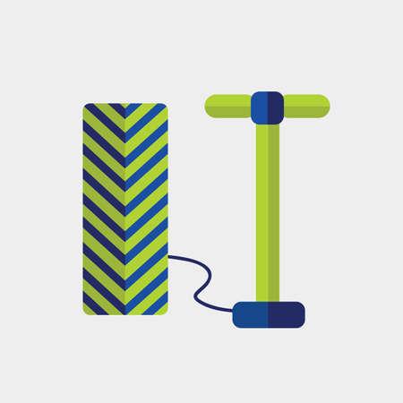 air pump: air pump and tire