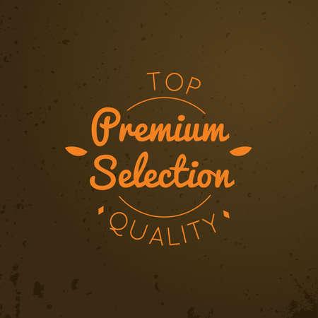 selection: premium selection label