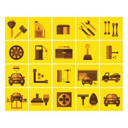 related: collection of car related objects
