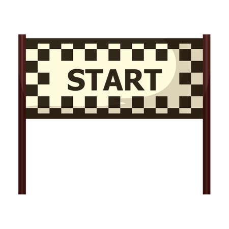 start line: circuit start line Illustration