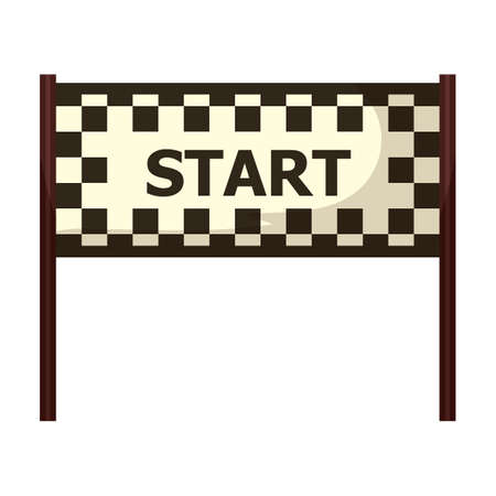 beginnings: circuit start line Illustration