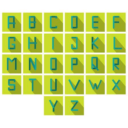 s c u b a: set of letter icons Illustration