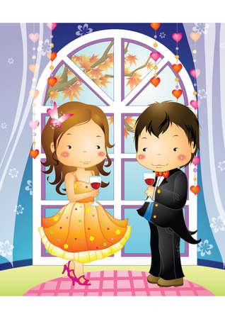 attire: boy and girl in formal attire