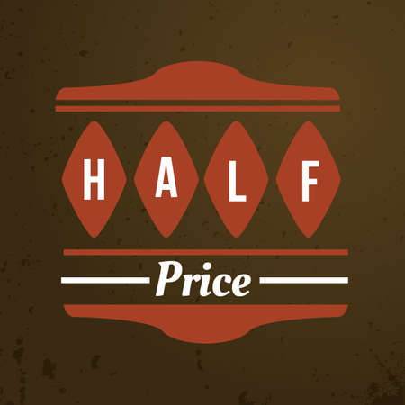 half price: half price label