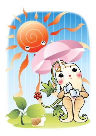 ginseng roots: ginseng Illustration