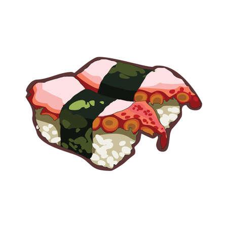 tentacle: octopus tentacle sushi