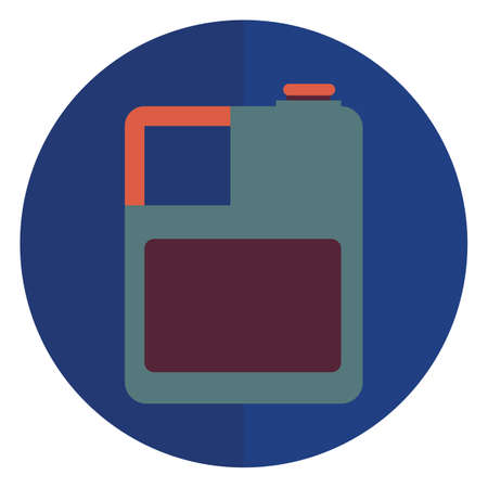 refueling: gasoline bottle Illustration
