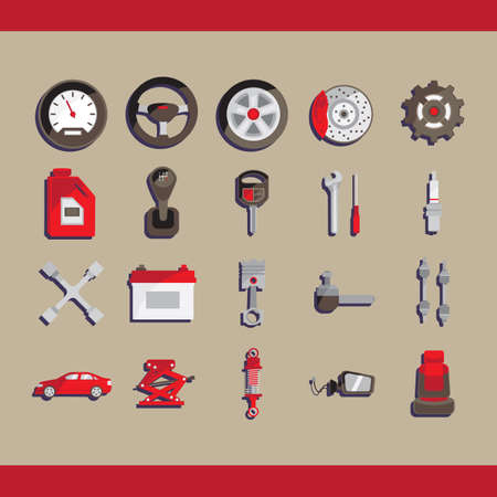 lug: collection of car related objects