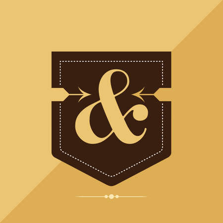 ampersand: ampersand vintage label Illustration