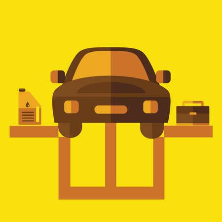 garage: car in the garage