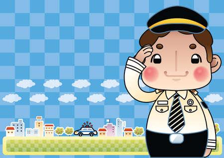 traffic police: traffic police saluting